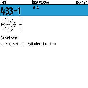 100 Edelstahl V4A Scheiben DIN 433-1 A4 6,4