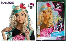 Monster High LAGOONA BLUE & Flower Dress Up CHILD WIG Halloween Costume Hair NEW