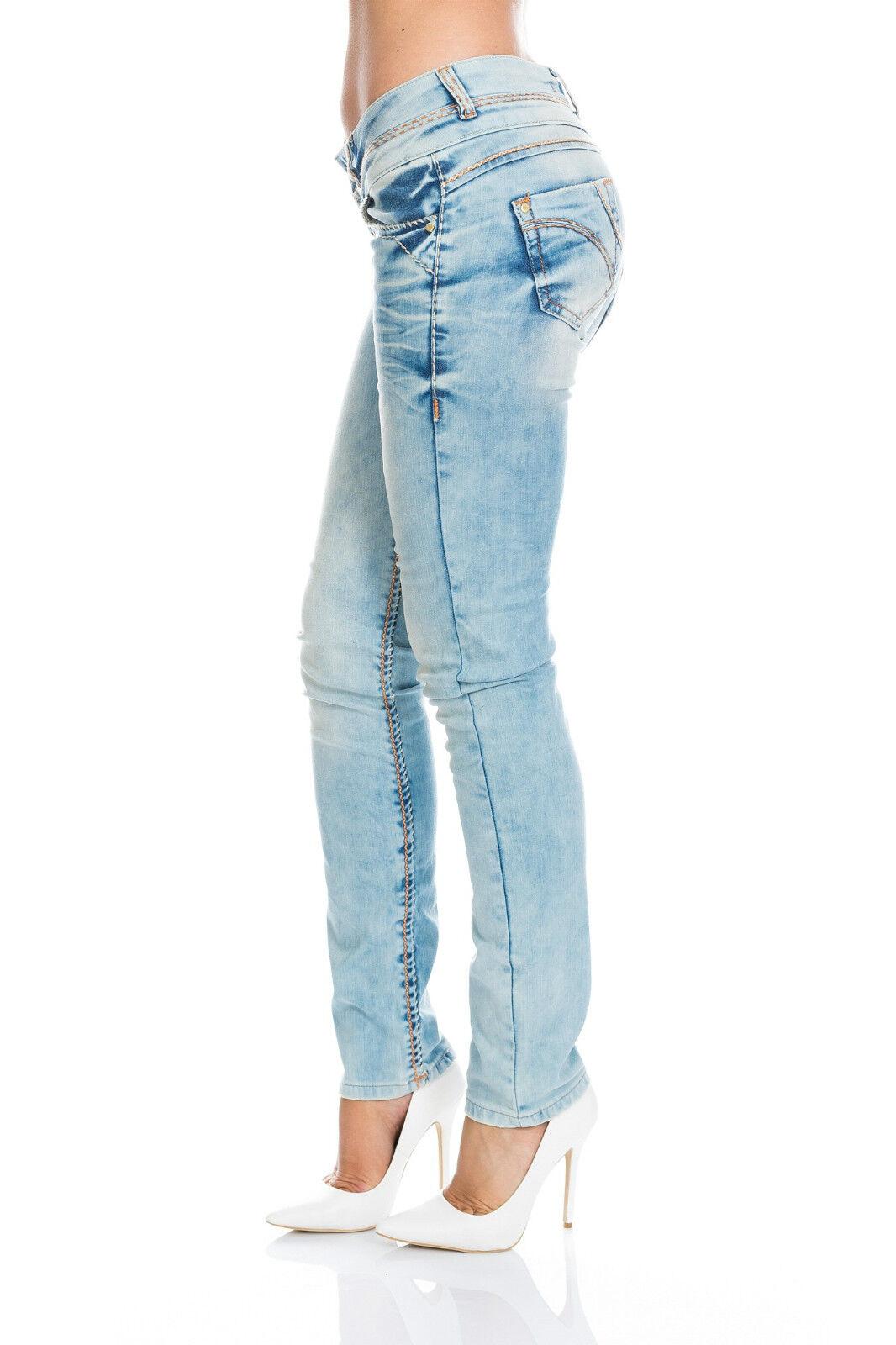 Sexy ♥ Cipo & Baxx ♥ Donna Jeans Designer Blu Blu Blu 347a w25 26 27 28 29 30 31 32 2f4db2