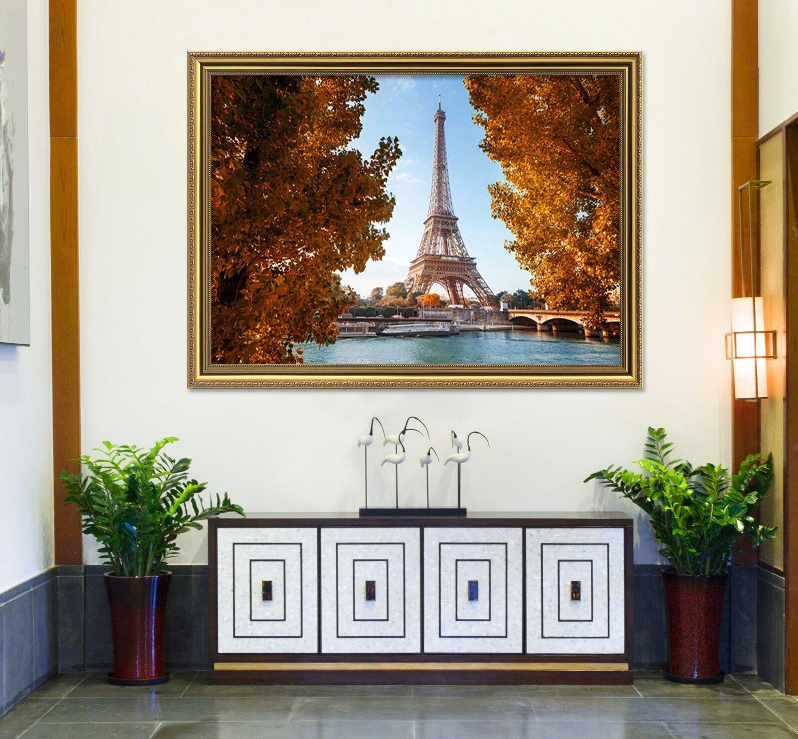 3D Eiffel Tower Tree 6 Framed Poster Home Decor Drucken Painting Kunst AJ WandPapier