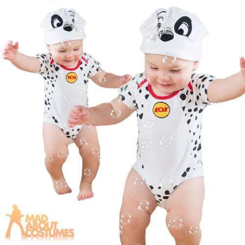 Kids Baby Disney 101 Dalmatians Costume Bodysuit Boys Girls Fancy Dress Outfit