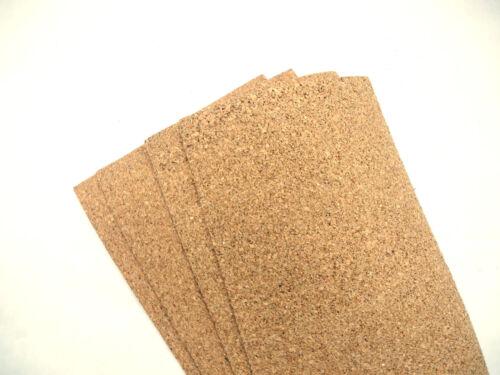 Bastel-Kork-Pinnwand   ca 30 cm x 20 cm 4 Stck 5mm Korkplatten