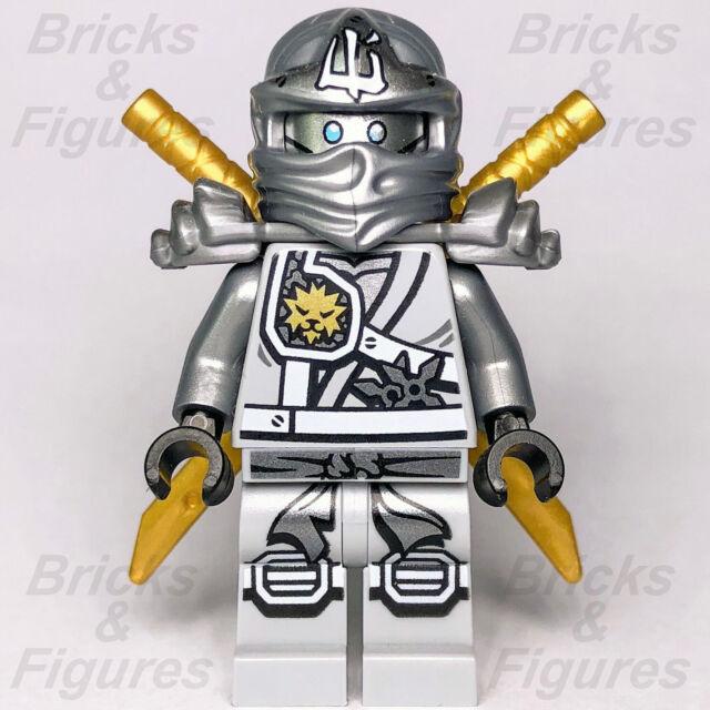 NINJAGO lego ZANE NINJA master of ice GENUINE 71217 70748 TITANIUM DRAGON swords
