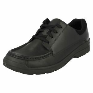 kett Boys cordones Loris negros cuero de Bootleg r28a de Step F Zapatos Fit q7OdxxEnF