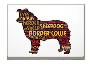 Border-Collie-Art-Print-Word-Art-A4-A3-Mothers-Day-Gift-Personalised-Option