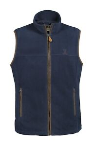 Percussion-Scotland-Mens-fleece-Vest-in-Blue-Shooting-Hunting-walking