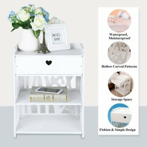 Bedroom-White-Cabinet-Bedside-Table-Nightstand-With-Drawer-Storage-Organise-Unit