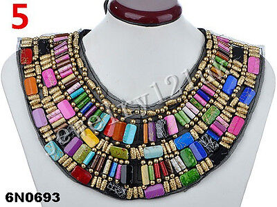 Fashion New women Jewelry Pendant Crystal Choker Statement Necklace chunky