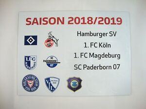 Update Set 2 Bundesliga Magnettabelle 18 19 Tabelle Dfl 2018 2019 2 Liga Hsv Ebay