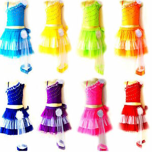 Kinder Madchen Cheerleader Kostum Fasching Cosplay Kleid