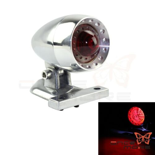 Motorcycle Vintage CNC LED Taillight License Plate Light Lamp For Harley Chopper