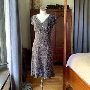 B-MOSS-Black-White-Pattern-Cap-Sleeve-Dress-8-M