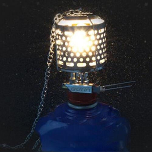 Ultralight Metal Camping Gas Lantern Mini Hanging Glass Lamp Night Lights