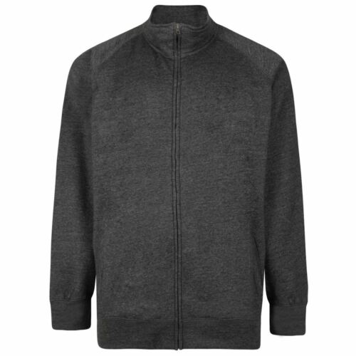 KAM Cotton Rich Fleece Full Zip Sweat Top in Size 2XL to 8XL 3 color Options