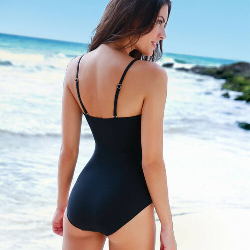 Damen Monokini Bikini Badeanzug Bademode Schwimmanzug Push Up Padded Einteiliger