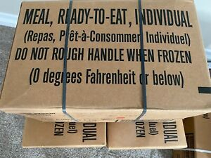 MRE, 2022 INSP DATE, Meal Ready to Eat, CASE, MENU A