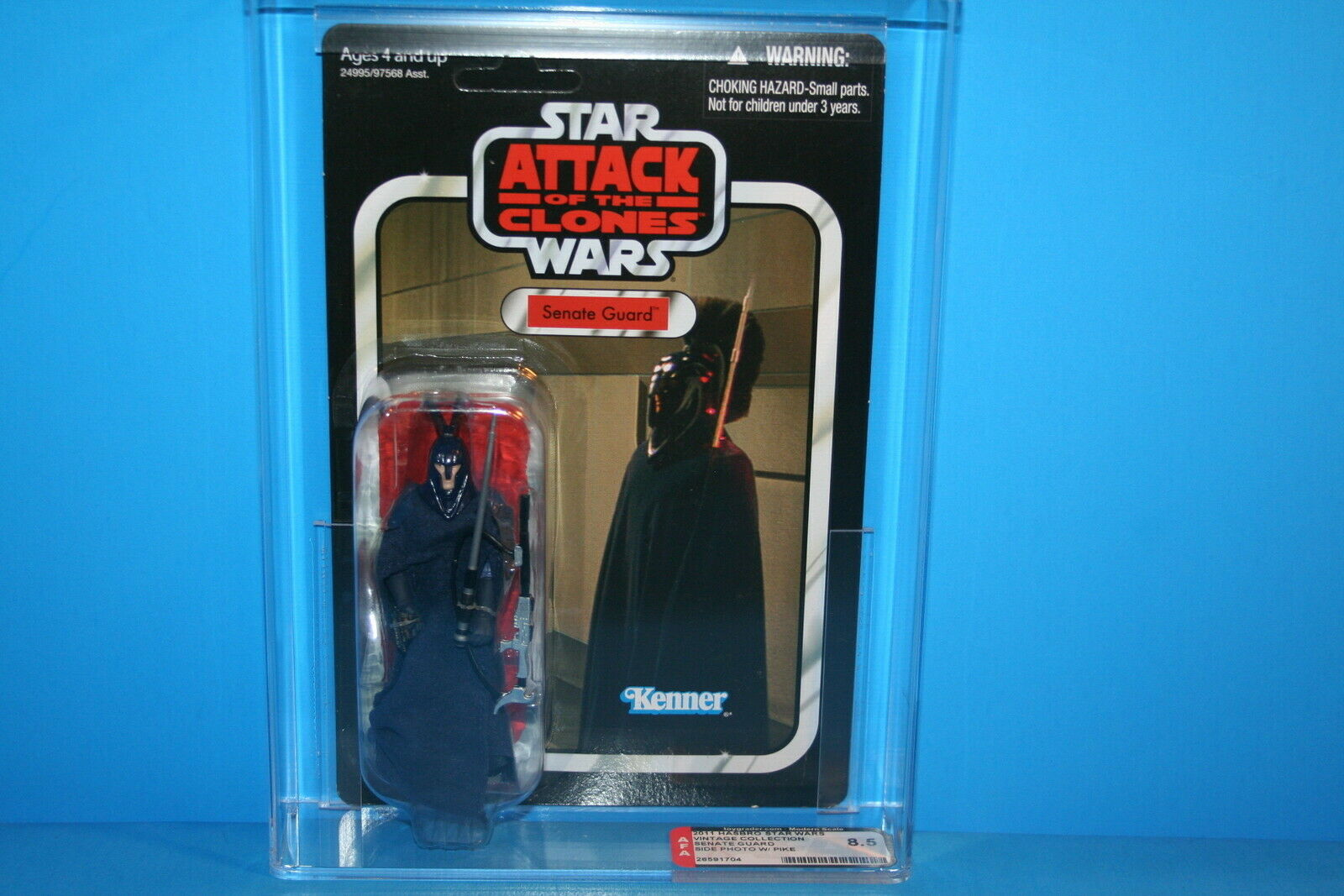 Estrella Wars Afa clasificados 2011 Tvc menta en tarjeta figura Guardia del Senado  36 Hasbro 8.5