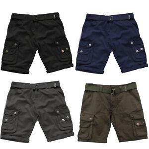 edb2a49753 Scruffs Cargo Shorts With Belt Black/Charcoal Grey/Navy/Khaki Men's ...
