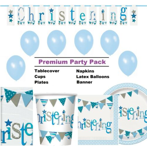 Decorations /& Balloons Blue Bunting Christening Party Supplies Tableware