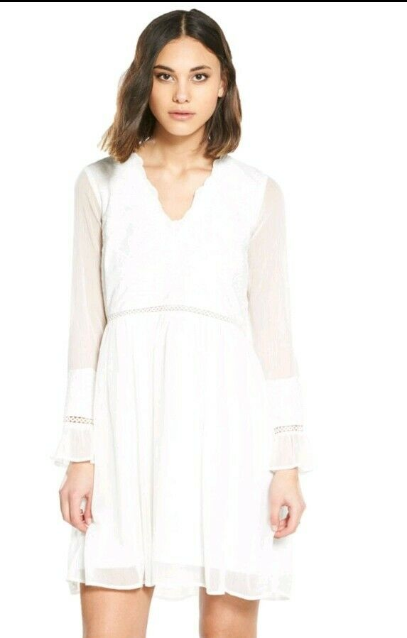 River Island White Lace Summer Dress Beach Cover Up UK NEW Tagged Free Post