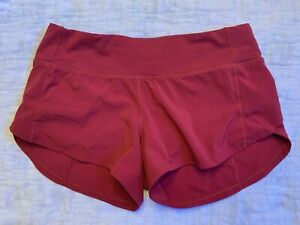 Lululemon red shorts size 2