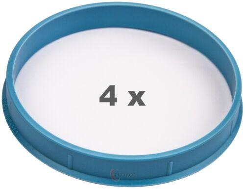 4 Piezas Anillas de centrado 89.1 mm a 84.1 mm azul claro//lightblue