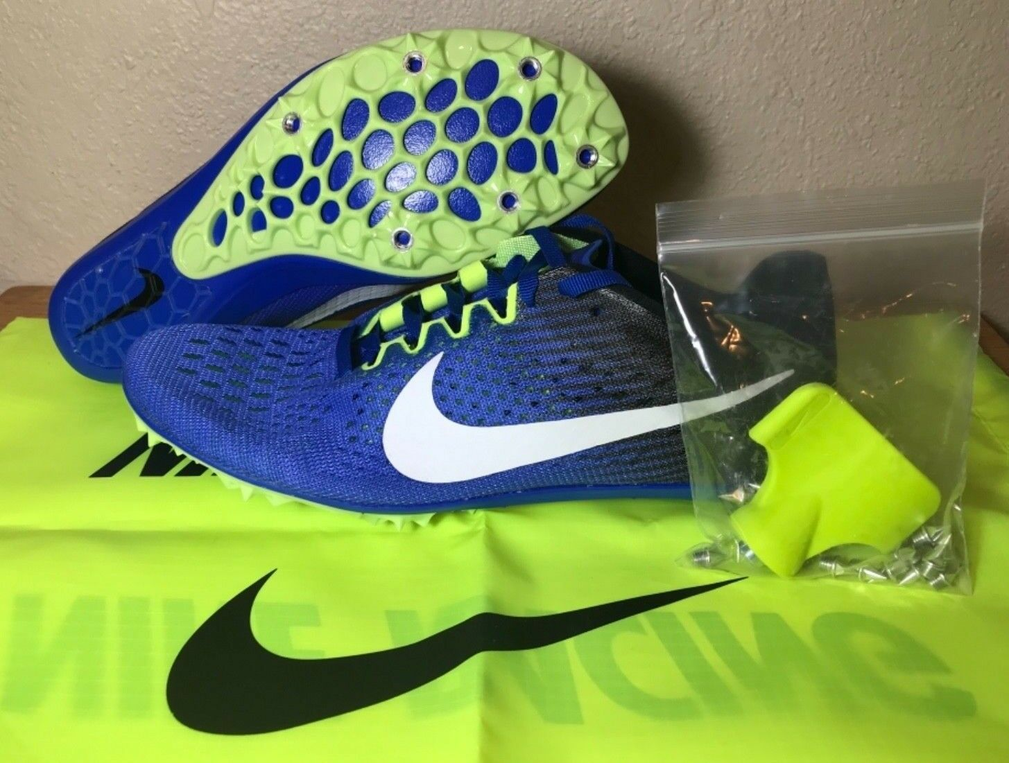 Nike Zoom Victory 3 Track Track Track Racing Spikes SZ bluee Black Volt Mens New (835997-413) 7a31bd