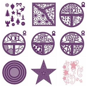 Christmas-Broken-Tiles-amp-Stitched-Xmas-Metal-Cutting-Dies-Stencil-Scrapbooking
