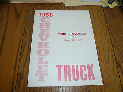 1958 chevrolet truck wiring diagrams for complete chassis. Black Bedroom Furniture Sets. Home Design Ideas
