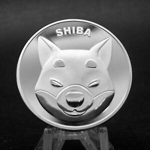 Shibcoin Coin Silver Shiba Inu Shib Coins Limited Edition Collectible Collection