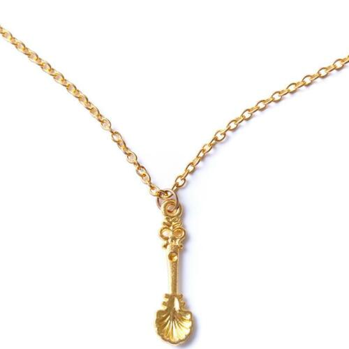 Charm Women Lady Shell Tea Spoon Snuff Allsorts Necklace Jewelry Gift LC