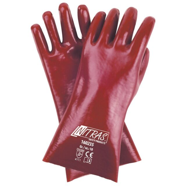 Handschuhe Nitril Foam rot//schwarz Nyl.m.Nitrilschaum EN 388 PSA II NITRAS 12