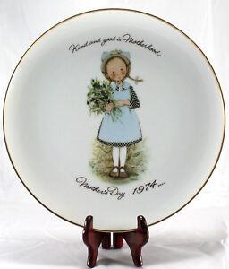 Vintage Hollie Hobbie 1974 Mothers Day Porcelain Plate Kind & Good is Motherhood