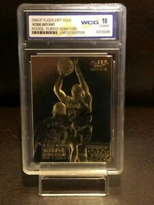 KOBE-BRYANT-AUTOGRAPH-CARD-1996-ROOKIE-AUTHENTIC-RARE-GOLD-CARD-GRADED-10