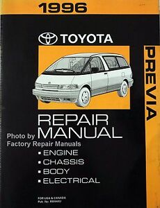 1996 toyota previa mini van factory service manual original shop rh ebay com Leasing Used Toyota Previa 1996 1996 Toyota Previa Custom