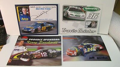 Reasonable Nascar Kerry Earnhardt Jeff Gordon Derrike Cope Signed 4 Piece Collector Pack Meticulous Dyeing Processes Nascar Sports Memorabilia