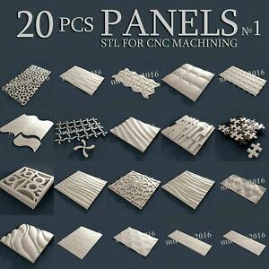 20 pcs set #1 3d stl model for CNC Router Artcam Aspire