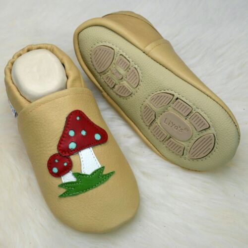 #611 Toadstool in Sand Yellow Liya/'s House Shoes Slippers Walking Learning Shoes