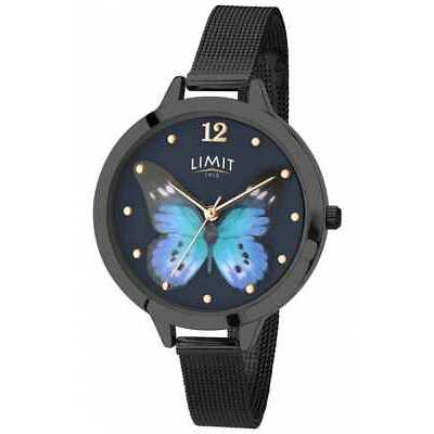Limit Womens Secret Garden black pvd butterfly 6270.73 Watch