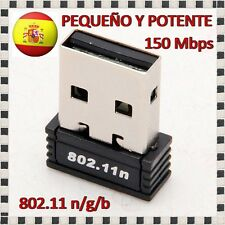 MINI MICRO ADAPTADOR RED WIFI NANO INALAMBRICO 150Mbps USB LAN 802.11n/g/ ANTENA
