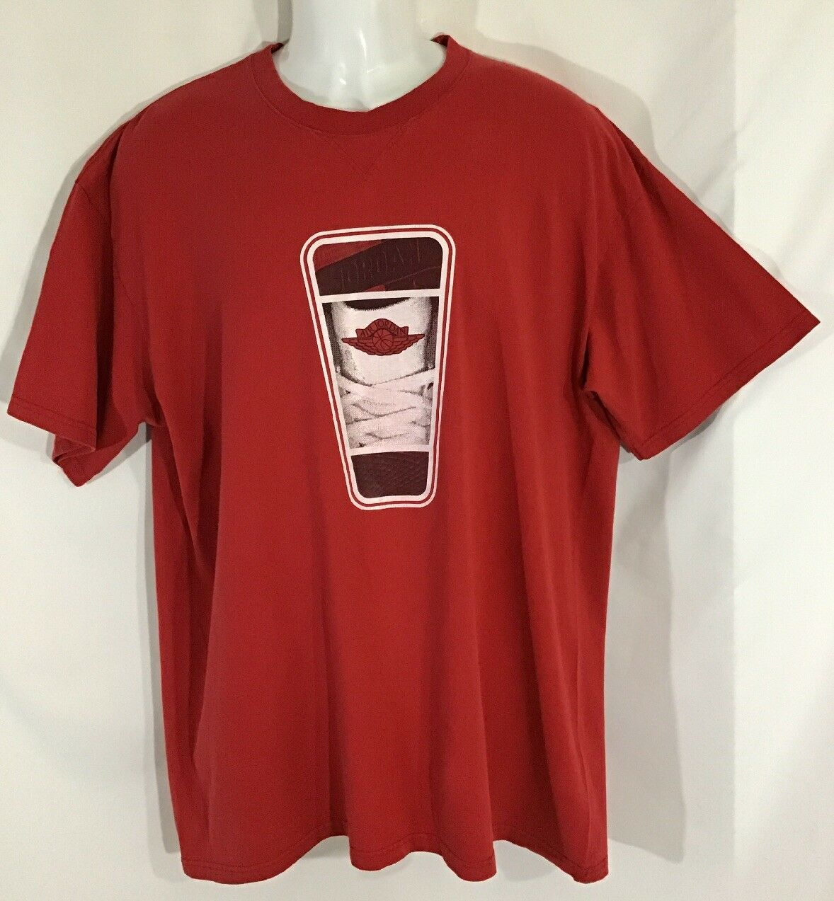 86b3606ab827 Air Jordan Tshirt WINGS Mike 23 Rare 90 s OG Red Size XL Vintage ...