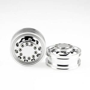 Billet-Machined-Alloy-Front-Wheel-Rims-for-Tamiya-1-14-Scale-Semi-Truck-2pcs