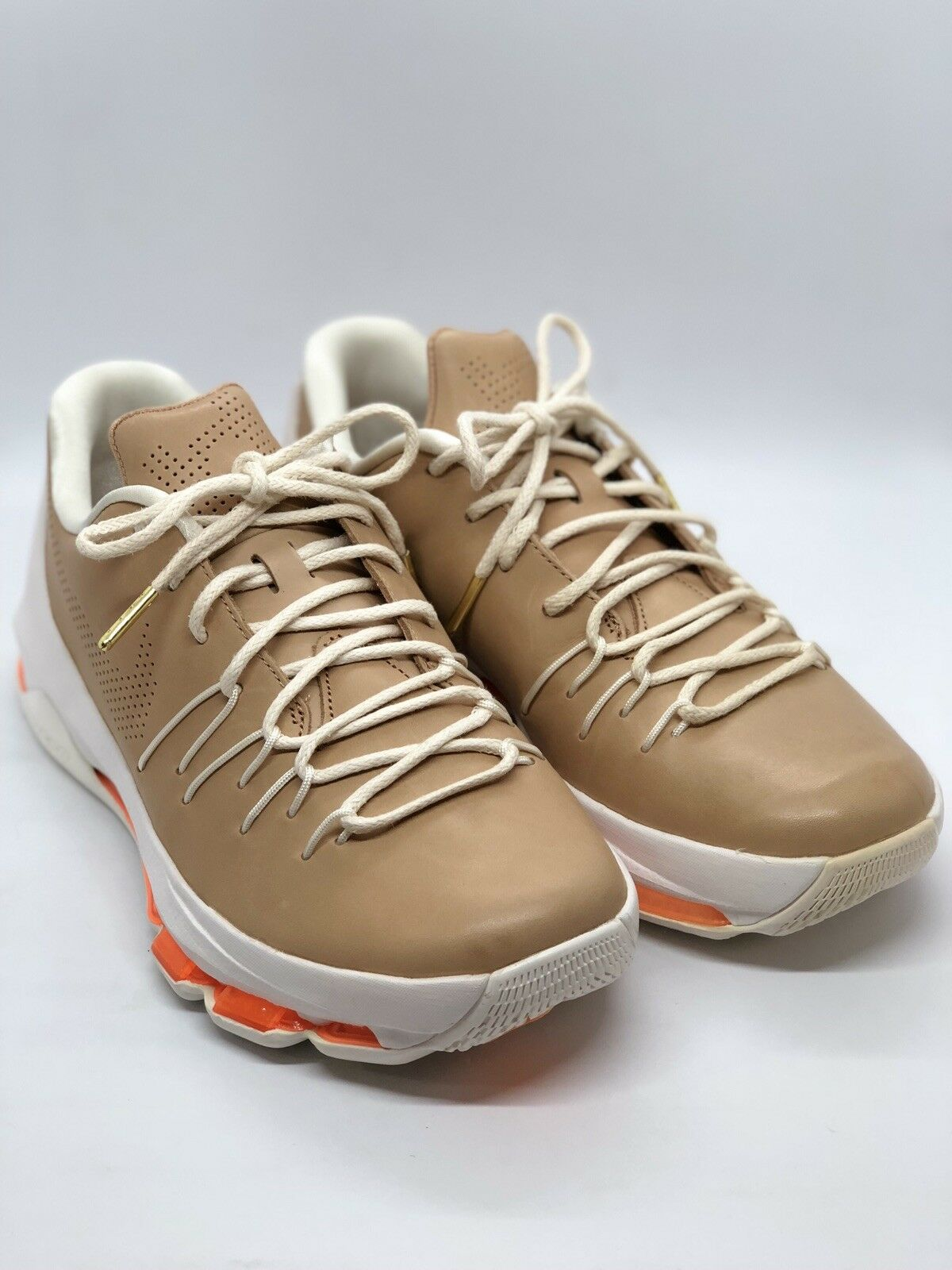 "NIKE KD 8 EXT 806393-200 Tan Sail orange Men's Size 8 ""VACHETTA TAN"""