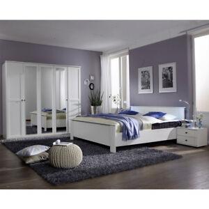 Schlafzimmer Kombi 1 Chalet In Alpinweiss Mit Spiegeln Bett Schrank