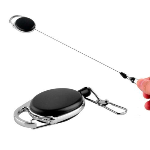 1Pcs Einziehbare Schlüsselanhänger Rückstoß Keyring Belt Clip Outdoor Key Ring