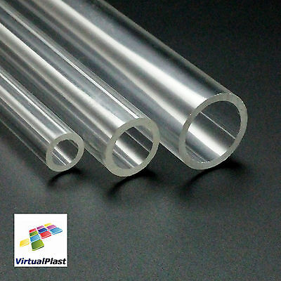 "Clear Plexiglass Tube 3/4"" Outside Diameter x 5/8"" Inside Diameter x 8"" Length"