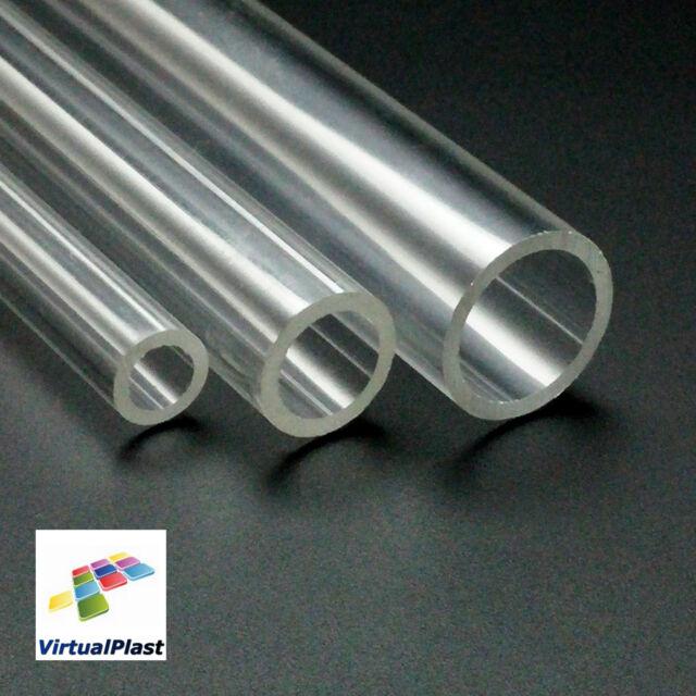 """Clear Plexiglass Tube 3/4"""" Outside Diameter x 5/8"""" Inside Diameter x 8"""" Length"""