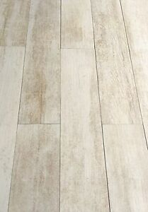 Image Is Loading 5x24 Rectified Sand White Plank Porcelain Tile Floor