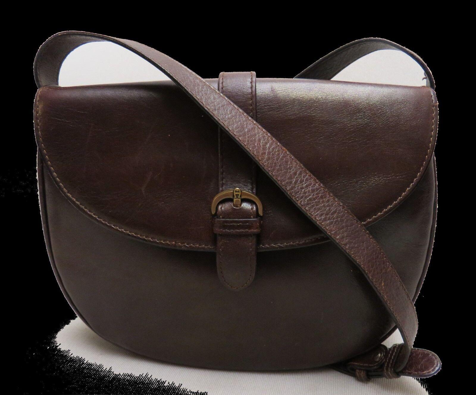 AIGNER Handtasche HOCHWERTIG Abendtasche SCHULTERTASCHE Leder LEDERTASCHE Braun  | Elegantes und robustes Menü