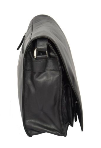 Cross Body Shoulder Womens Messenger Bag Black Working Leather A4 Large 8zSPnwqx